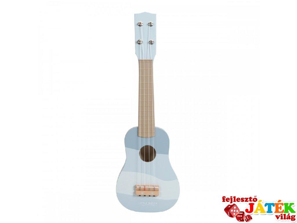 Gitár, Little Dutch fa játékhangszer, kék (7015, 3-7 év)