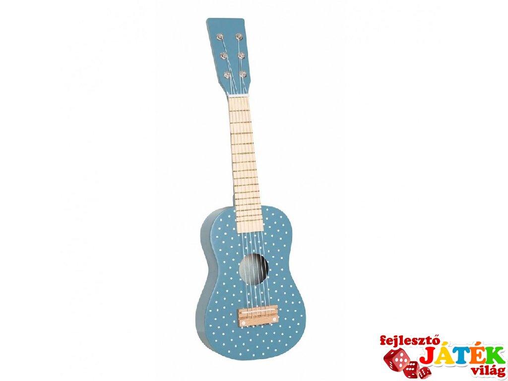 Gitár pasztell kék, fa játékhangszer (Jabadabado, 3-8 év)