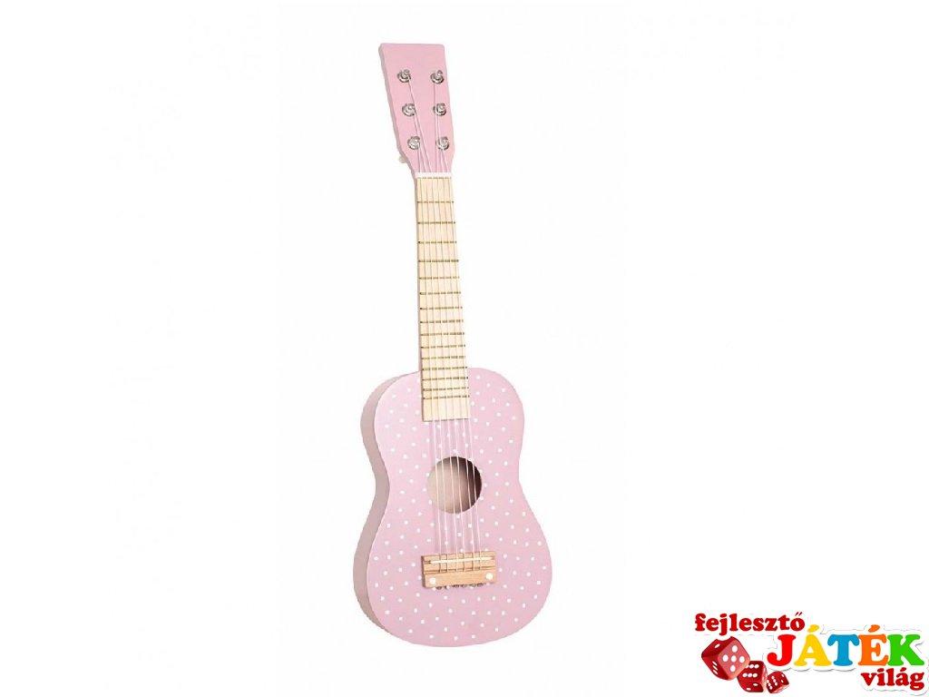 Gitár pasztell rózsaszín, fa játékhangszer (Jabadabado, 3-8 év)