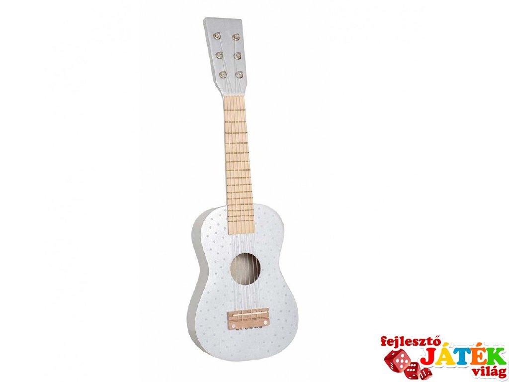 Gitár pasztell szürke, fa játékhangszer (Jabadabado, 3-8 év)