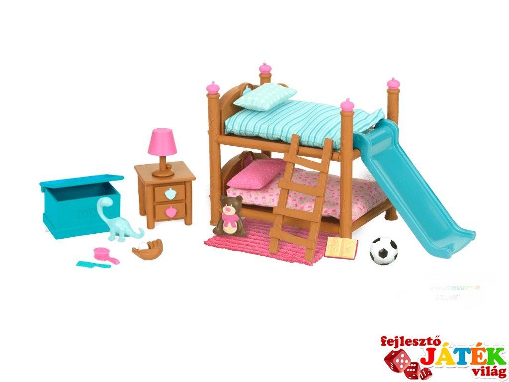 Gyerekszoba bútorok emeletes ággyal, Lil Woodzeez szerepjáték (3-6 év)