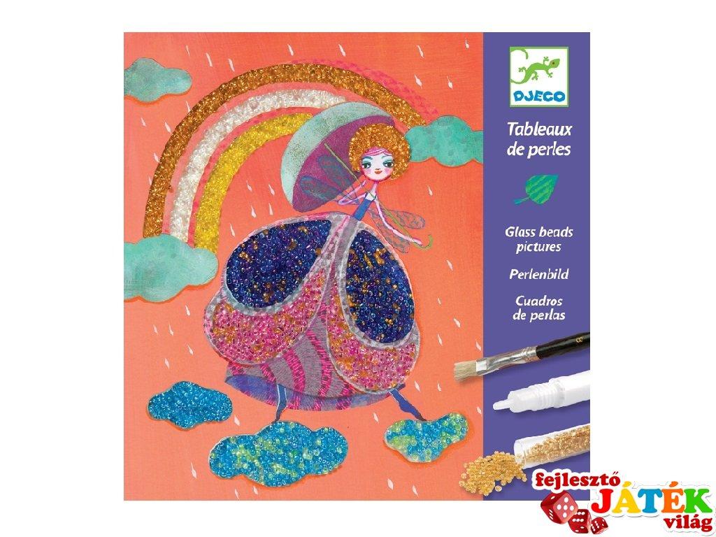 Gyöngyfestmény készítés Csodaország, Djeco kreatív szett - 9409 (6-11 év)