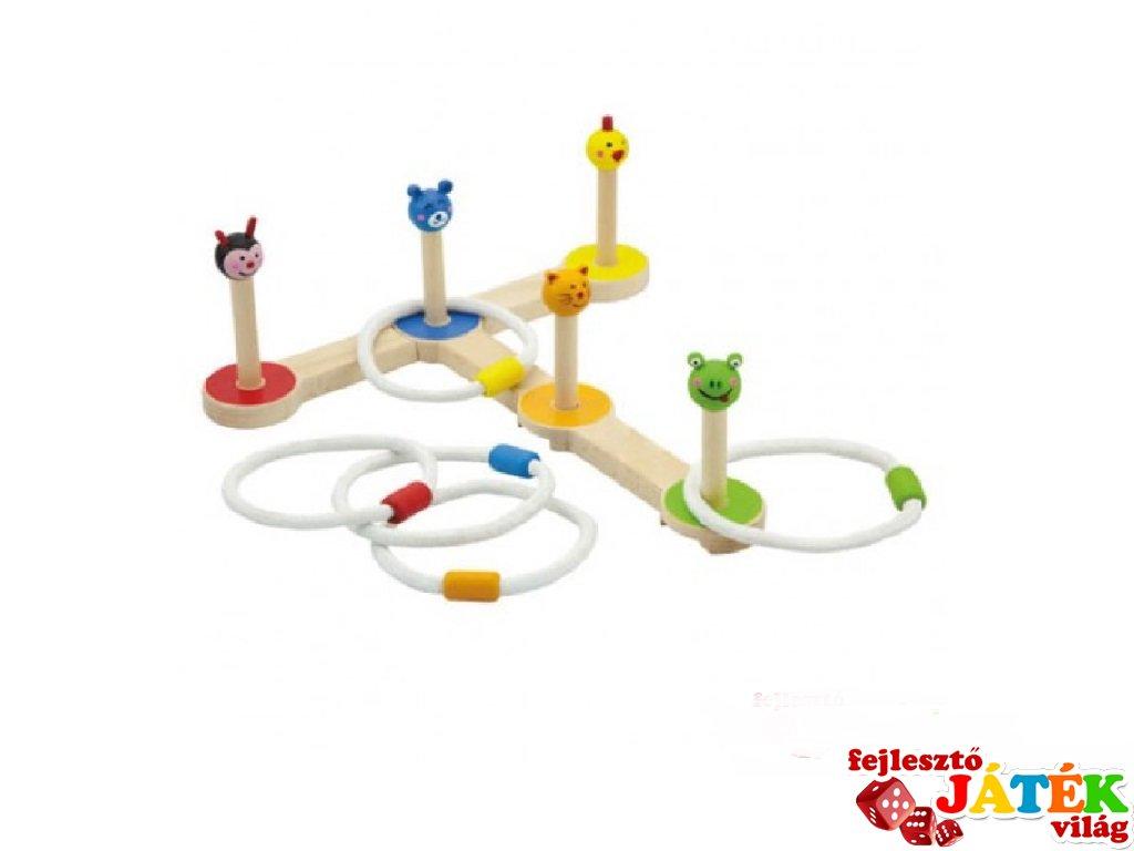 Gyűrűs, állatos célbadobó ügyességi játék (FK)