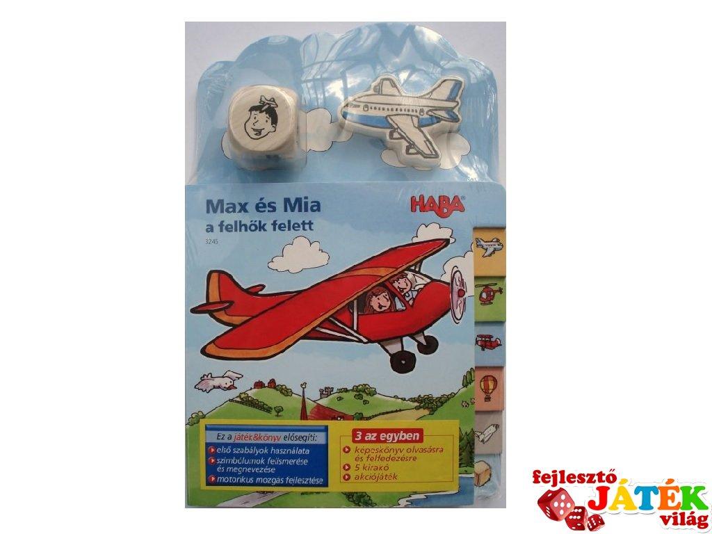 Haba könyv & játék egyben, Max és Mia a felhők felett (3-6 év)