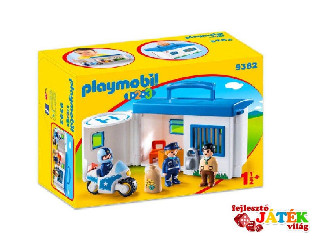 Hordozható rendőrség kicsiknek, Playmobil szerepjáték (9382, 1,5-4 év)