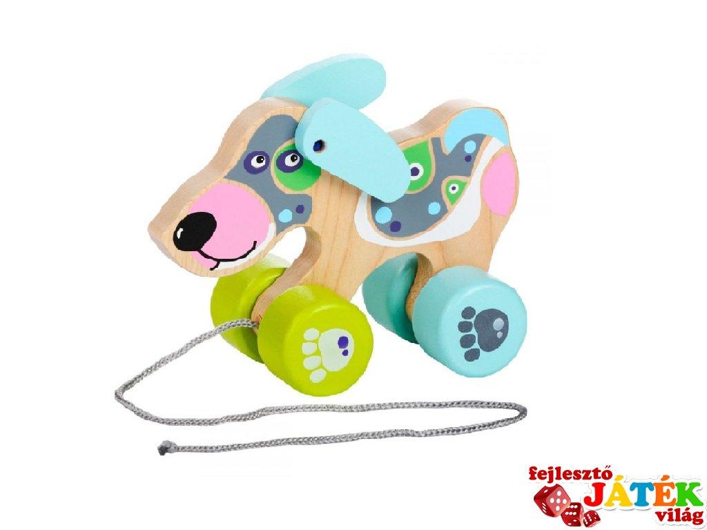 Húzós játék Kutya, mozgásfejlesztő bébijáték (1-3 év)