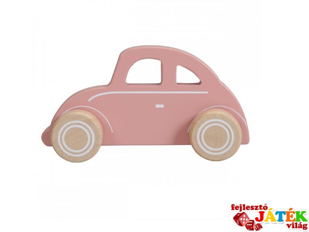 Játék Beetle autó pink, Little Dutch fa szerepjáték (7000, 1-3 év)
