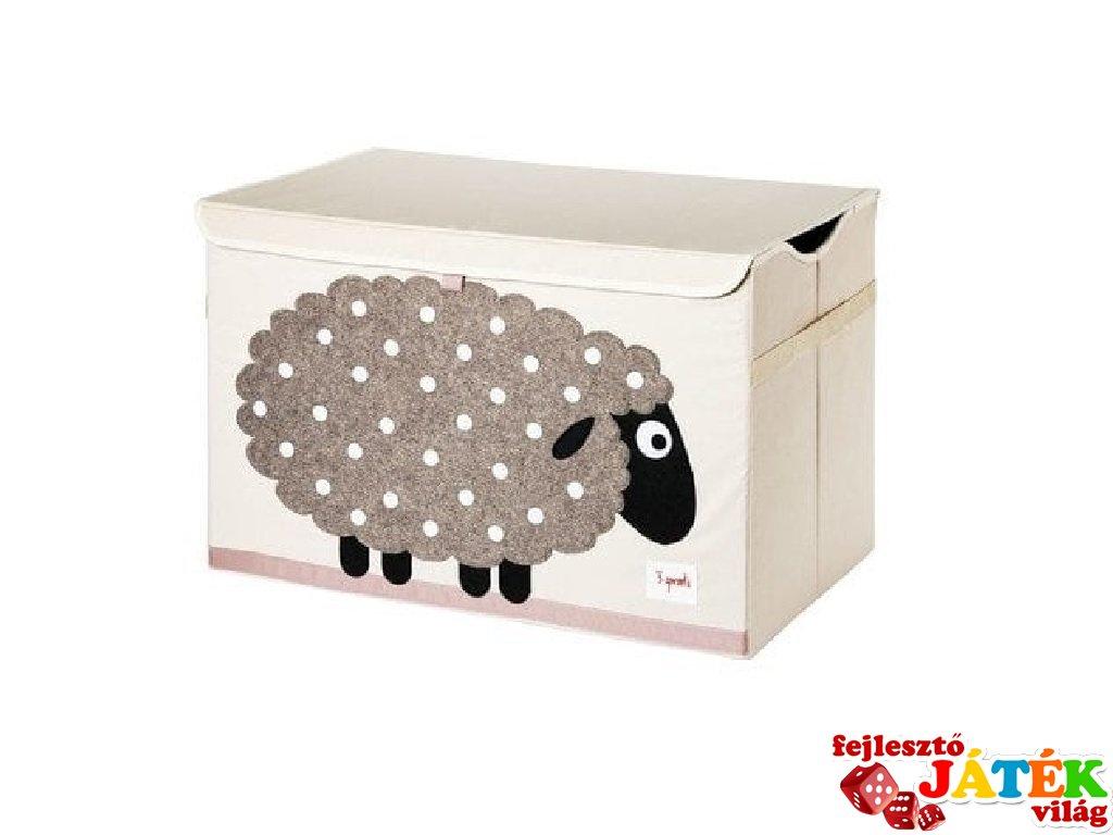 Játéktartó láda bárány, gyerekszoba kiegészítő (3SPR)