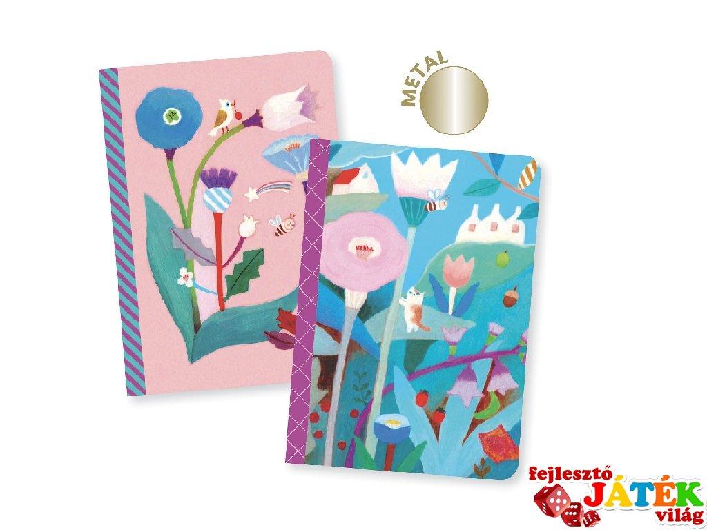 Jegyzetfüzet Makoto A/6, 2 db-os Djeco Lovely paper szett - 3596