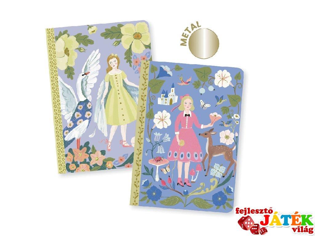 Jegyzetfüzet Sabina A/6, 2 db-os Djeco Lovely paper szett - 3599