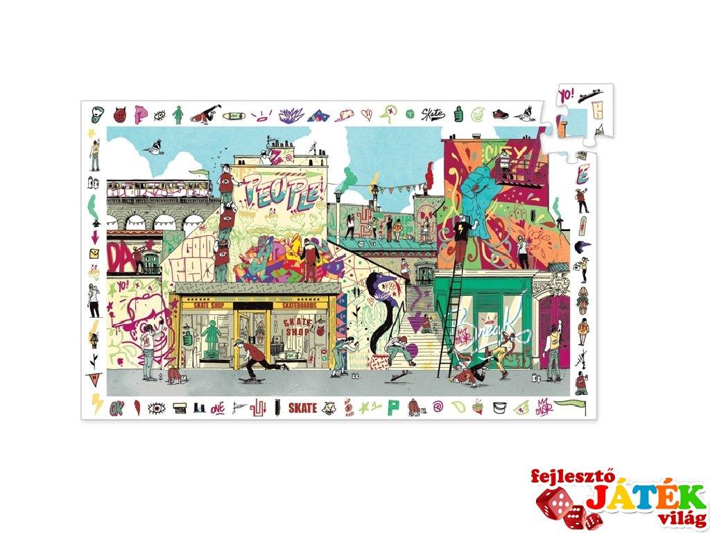 Képkereső puzzle, Utcai művészet (Djeco, 7453, 200 db-os kirakó, 6-14 év)