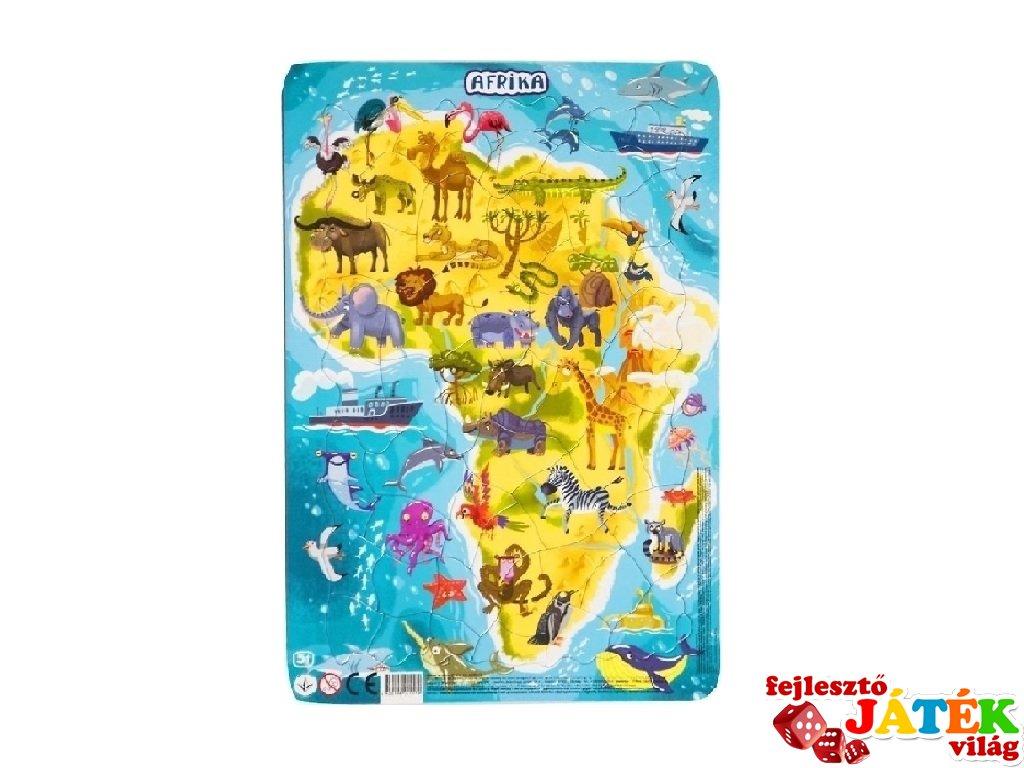 Keretes puzzle Afrika, 53 db-os kirakó (DO, 5-8 év)
