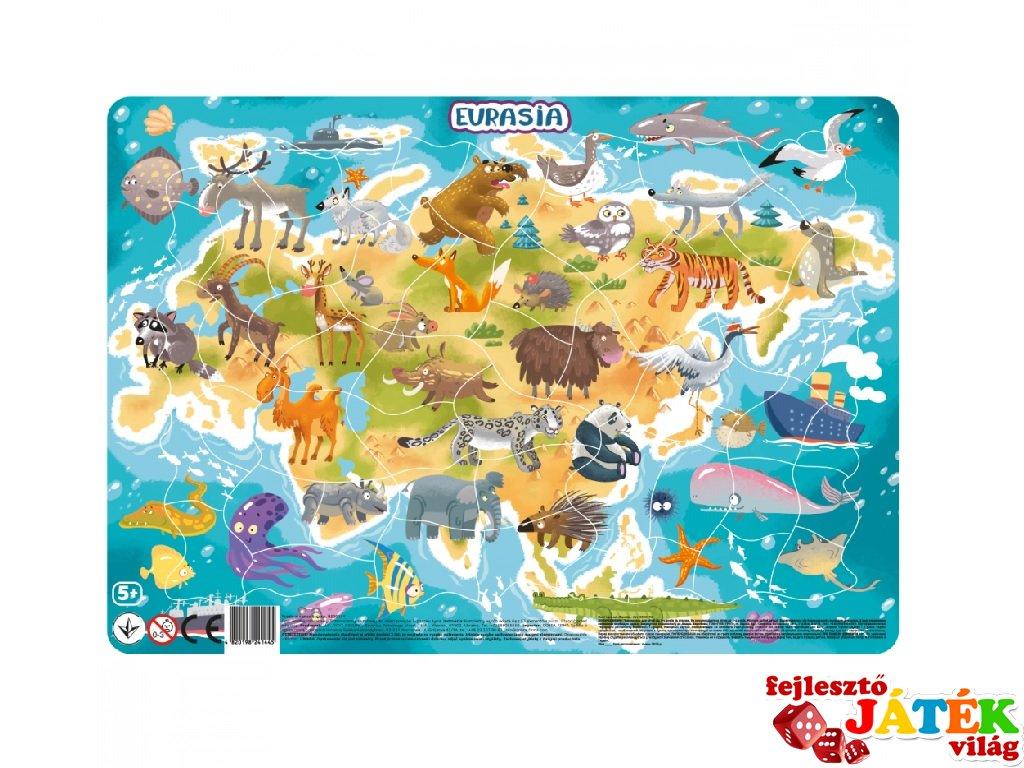 Keretes puzzle Eurázsia, 53 db-os kirakó (DO, 5-8 év)
