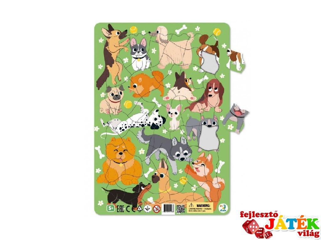 Keretes puzzle Kutyák, 53 db-os kirakó (DO, 5-8 év)