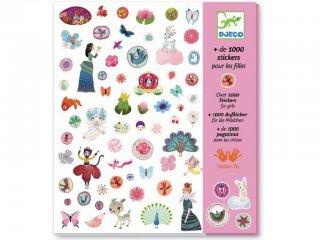 1000 matrica lányoknak (Djeco, 8951, matricakészlet, 4-8 év)