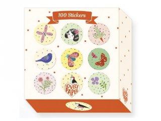 100 db-os matrica készlet, Chichi (Djeco, 3702, kreatív készlet, 3-10 év)