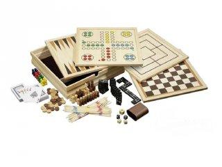 10 in 1 fából készült játékgyűjtemény (10-féle játék egyben)