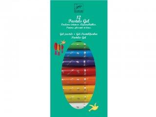 12 zselés pasztellfesték klasszikus színekben (Djeco, 8805, kreatív készlet, 6-12 év)