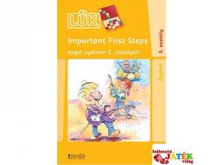24 darabos Lük, Important first steps, angol nyelvtan 5. osztály (egyszemélyes, nyelvi fejlesztőjáték, 10-99 év)