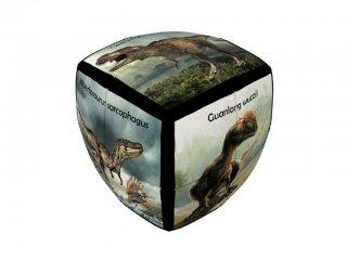 2x2 versenykocka, lekerekített, Dinoszaurusz (V-Cube, egyszemélyes logikai játék, 7-99 év)