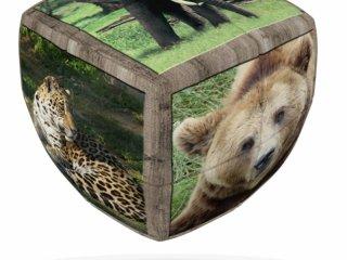 2x2 versenykocka, lekerekített, Vadállatok (V-Cube, egyszemélyes logikai játék, 7-99 év)