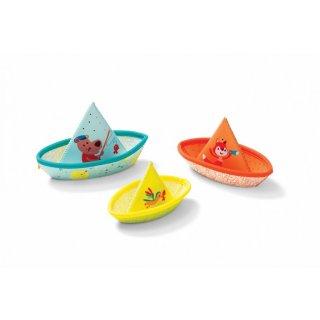 3 kishajó - fürdőjáték (Lilliputiens, hajó, fürdőjáték, 86772, 6 hónap-3 év)