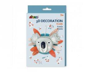 3D dekorációs puzzle Koala, kreatív készlet (Avenir, 3-6 év)