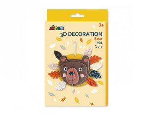 3D dekorációs puzzle Maci, kreatív készlet (Avenir, 3-6 év)