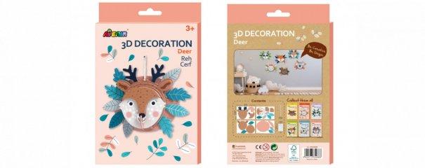 3D dekorációs puzzle Szarvas, kreatív készlet (Avenir, 3-6 év)
