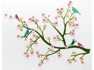 3D falmatrica, Virágzó cseresznyefa (Djeco, 5001, szobadekoráció)