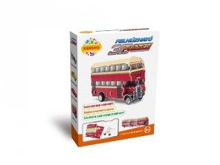 3D Puzzle, Emeletes busz (HW, felhúzható kirakó, 5-9 év)