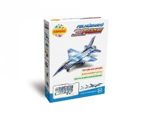 3D Puzzle, F-16-os vadászgép (HW, felhúzható kirakó, 5-9 év)
