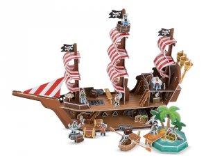 3D puzzle, Kalózhajó (Melissa&Doug, szerepjáték, 5-8 év)