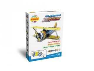3D Puzzle, Kétfedelű vadászgép (HW, felhúzható kirakó, 5-9 év)