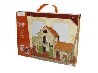 3D puzzle színház, Farm (Avenue Mandarine, kreatív játék, 3-7 év)
