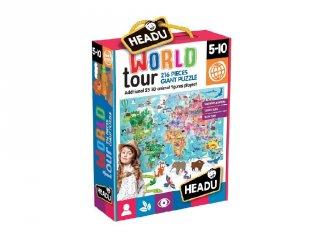 3D Puzzle világutazás, 216 db-os kirakó (HED, 5-10 év)