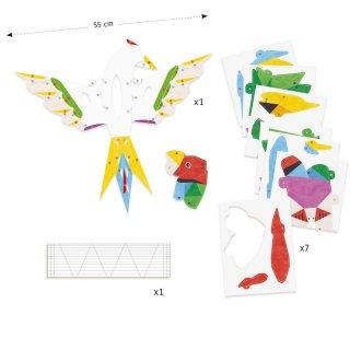 3D-s poszterkészítés Amazónia, Djeco kreatív szett - 9448 (8-14 év)
