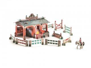 3D-s puzzle, Istálló (Djeco, 7707, 43 db-os kemény karton kirakó, 3-8 év)