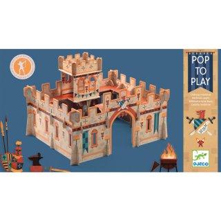 3D-s puzzle Középkori vár, Djeco szerepjáték - 7714 (4-8 év)