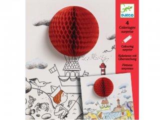 3D színező, Könnyebb a levegőnél (Djeco, 9648, kreatív képkészítő, 6-9 év)