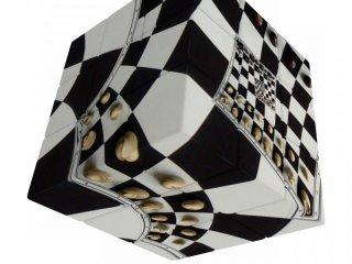 3x3 versenykocka, Sakktábla illúzió (V-Cube, egyszemélyes logikai játék, 7-99 év)
