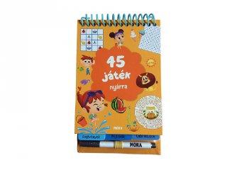 45 játék nyárra, letörölhető foglalkoztató füzet, utazó játék (MO, 3-6 év)
