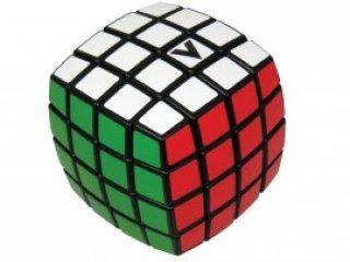 4x4 versenykocka, fekete, lekerekített, matrica nélküli (V-Cube, egyszemélyes logikai játék, 7-99 év)