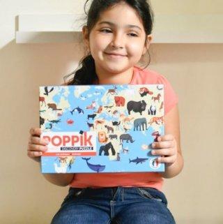 500 db-os oktató puzzle, A világ állatai (Poppik, 7-12 év)