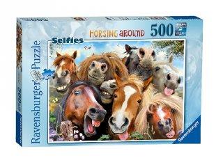 500 db-os puzzle, Paci szelfi (lovas kirakójáték, 8-99 év)