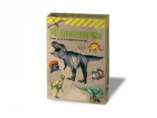 50 dinoszaurusz, kvíz jellegű kártyajáték (7-12 év)