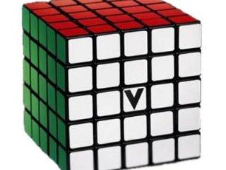5x5 versenykocka, fekete, egyenes, matrica nélküli (V-Cube, egyszemélyes logikai játék, 7-99 év)