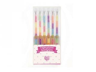 6 színű színváltó pasztell gél toll készlet, Djeco kreatív szett - 3758