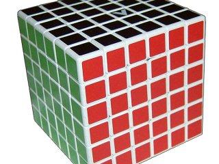 6x6 versenykocka, fehér, egyenes (V-Cube, egyszemélyes logikai játék, 7-99 év)