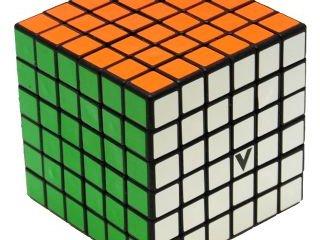 6x6 versenykocka, fekete, egyenes (V-Cube, egyszemélyes logikai játék, 7-99 év)